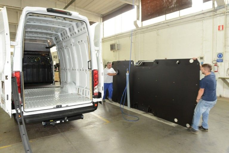 Outfitting of commercial vehicles